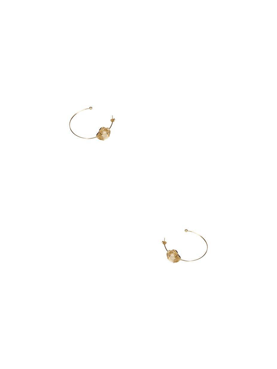 0e5671e12 Louis Vuitton Vintage Gold Metal A La Folie Hoop Earrings   Fashion ...