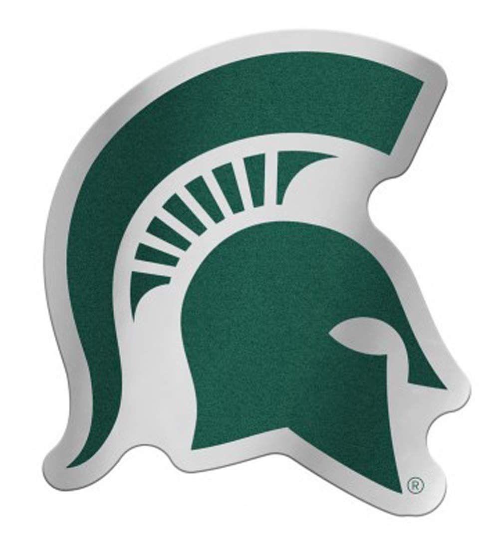 Michigan State Spartans Logo Auto Badge Decal Sticker New Truck Car 3x4 Inches Michigan State Spartans Logo New Trucks Car Logos [ 1100 x 992 Pixel ]