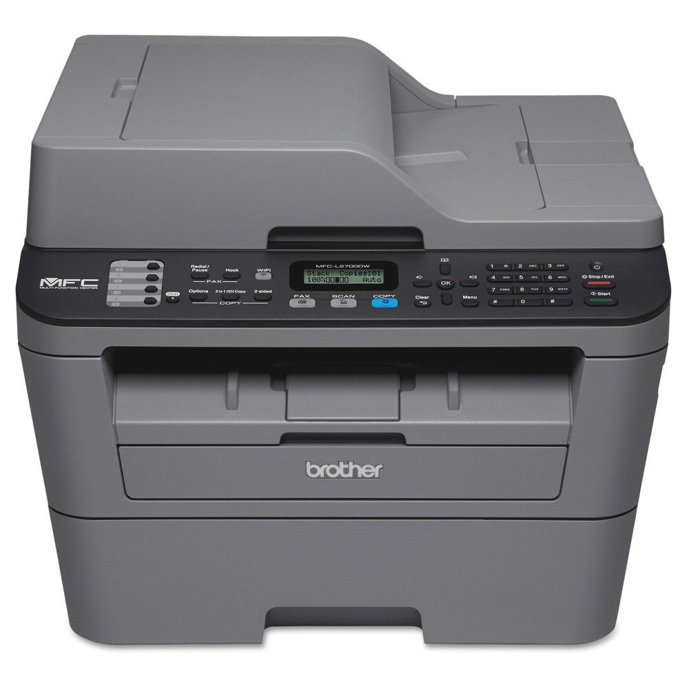 Brother Mfc L2700dw Compact Wireless Monochrome Laser All In One Printer With Duplex Printing Grey Mfc Brother Printers Multifunction Printer Laser Printer