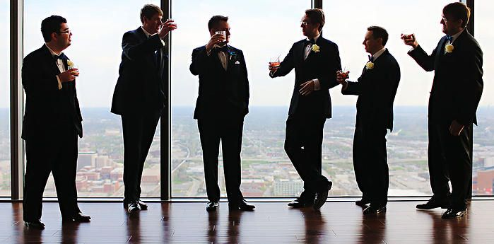 Toast With The Groomsmen At DAmore