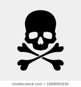 Skull Crossbones Icon On White Background Stock Vector Royalty Free 1668091708 Skull And Crossbones White Background Icon