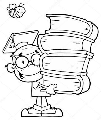 Resultado De Imagem Para Desenho Crianca Lendo Livro Pilha De