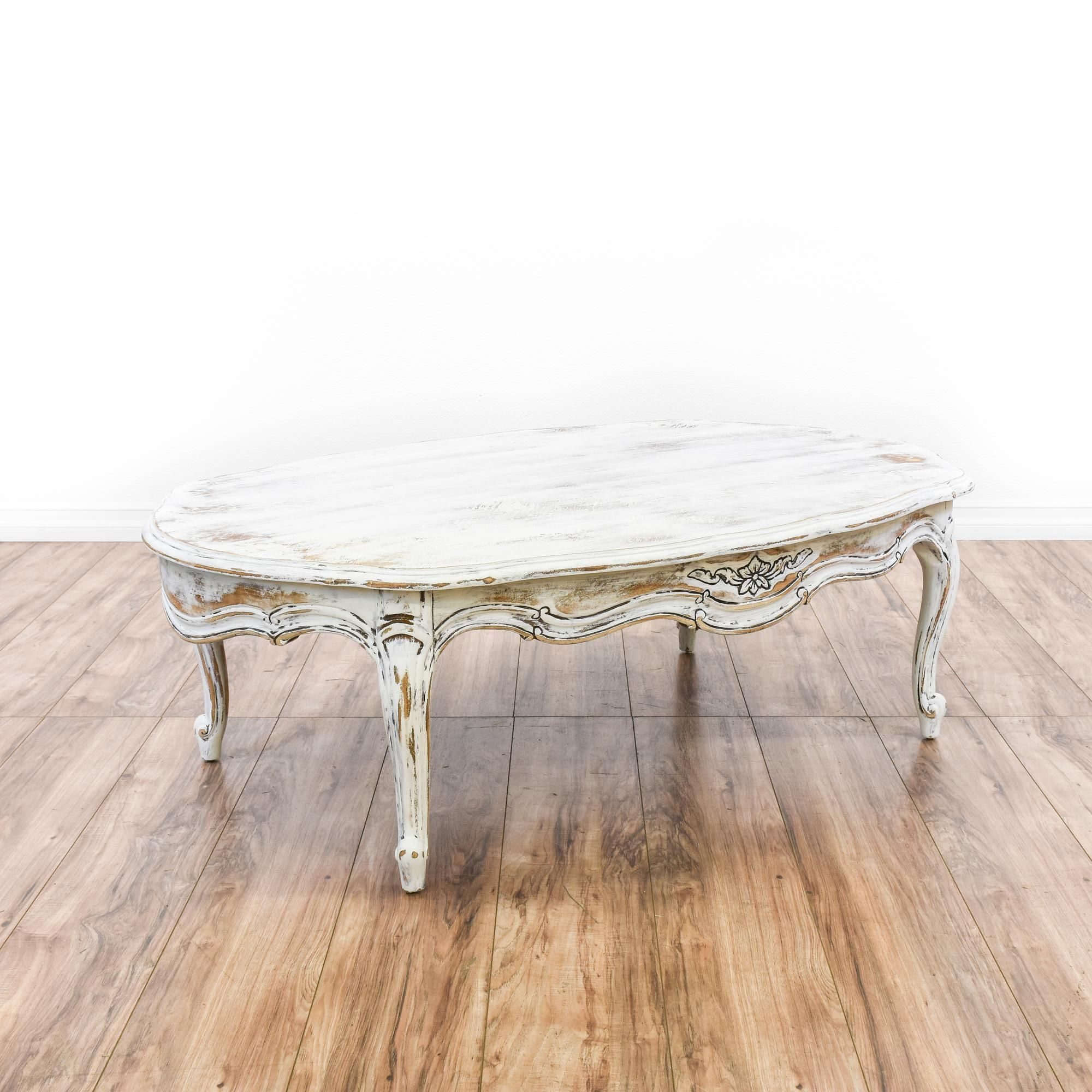 White Shabby Chic French Provincial Coffee Table This french