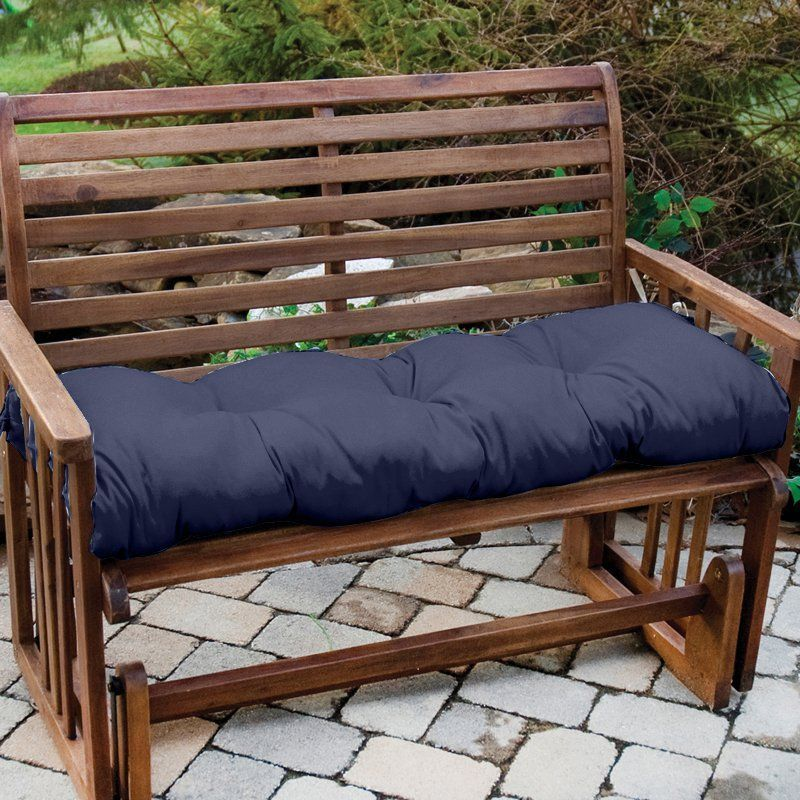 Greendale Home Fashions 46 X 17 In Sunbrella Outdoor Bench And