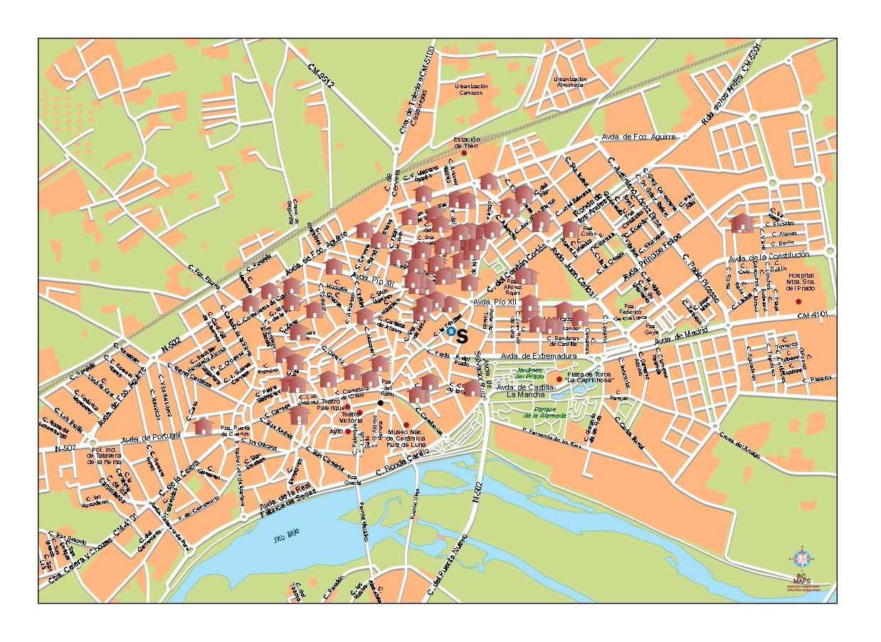 Mapa Talavera Dela Reina.Mapa Talavera Mapa Mapas Mapa De Espana Mapa Turistico
