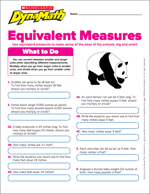 Give students practice with measurement conversions