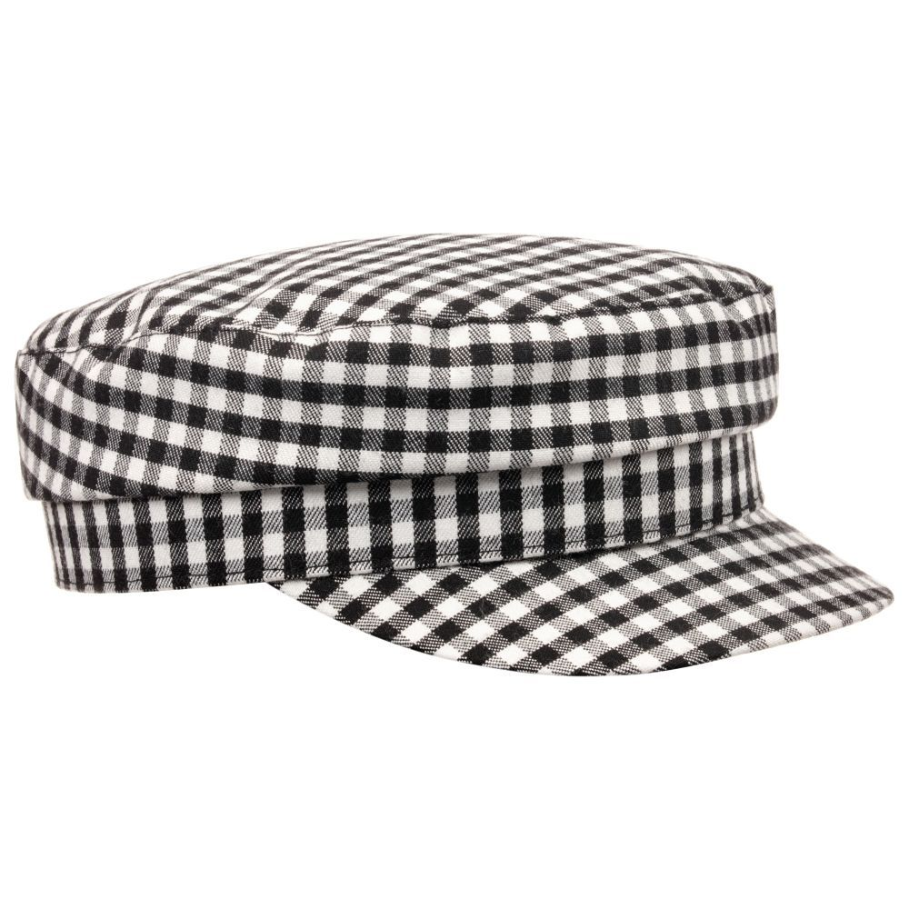 dc761888fe4 Girls Black   White Check Hat for Girl by Piccola Ludo. Discover more  beautiful designer Hats for kids online