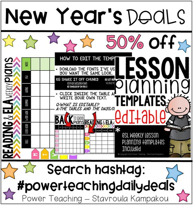 Lesson Planning Templates (Templates for ESL Lessons Included) Esl