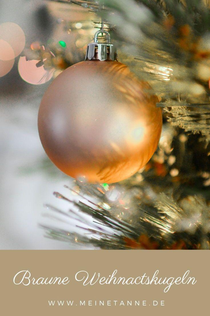 Braune Christbaumkugeln.Braune Christbaumkugeln Strahlen Eine Naturlich Ruhe Aus