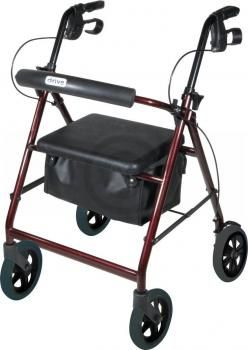 """Aluminum Rollator, Padded Seat, 6"""" Casters $124.00 FREE Shipping from uCan Health 