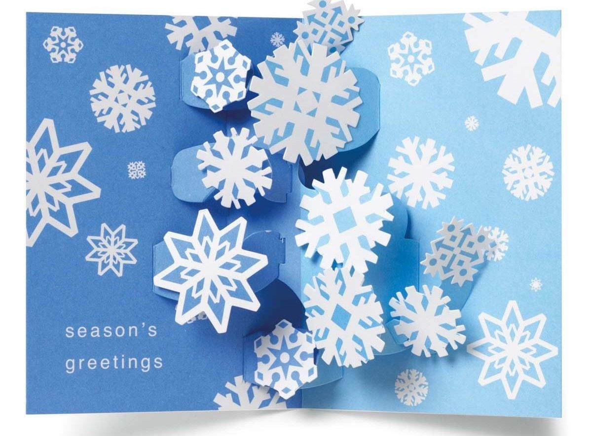 Good old fashioned boxed holiday cards swirling snowflakes pop good old fashioned boxed holiday cards swirling snowflakes pop up boxed holiday christmas greeting kristyandbryce Image collections
