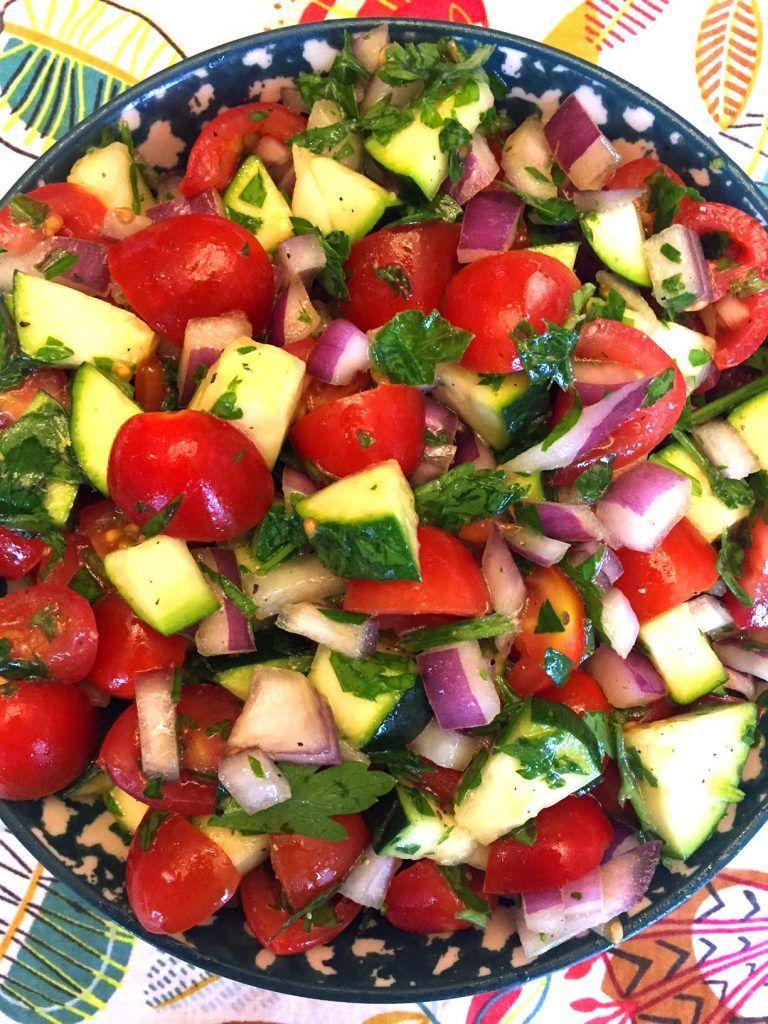 Cucumber Zucchini Tomato Salad Recipe