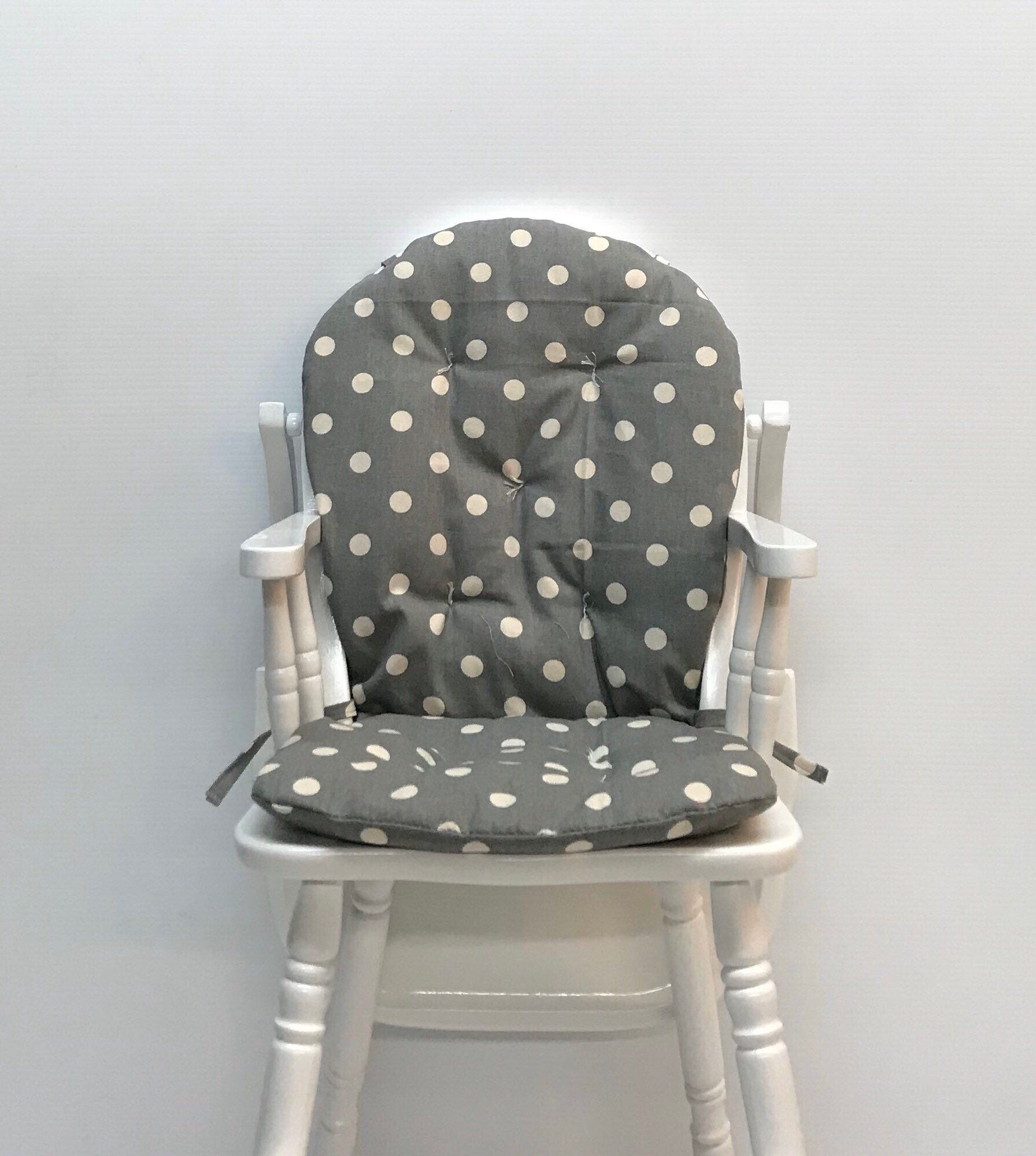 High chair cushion for vintage wooden high chairs