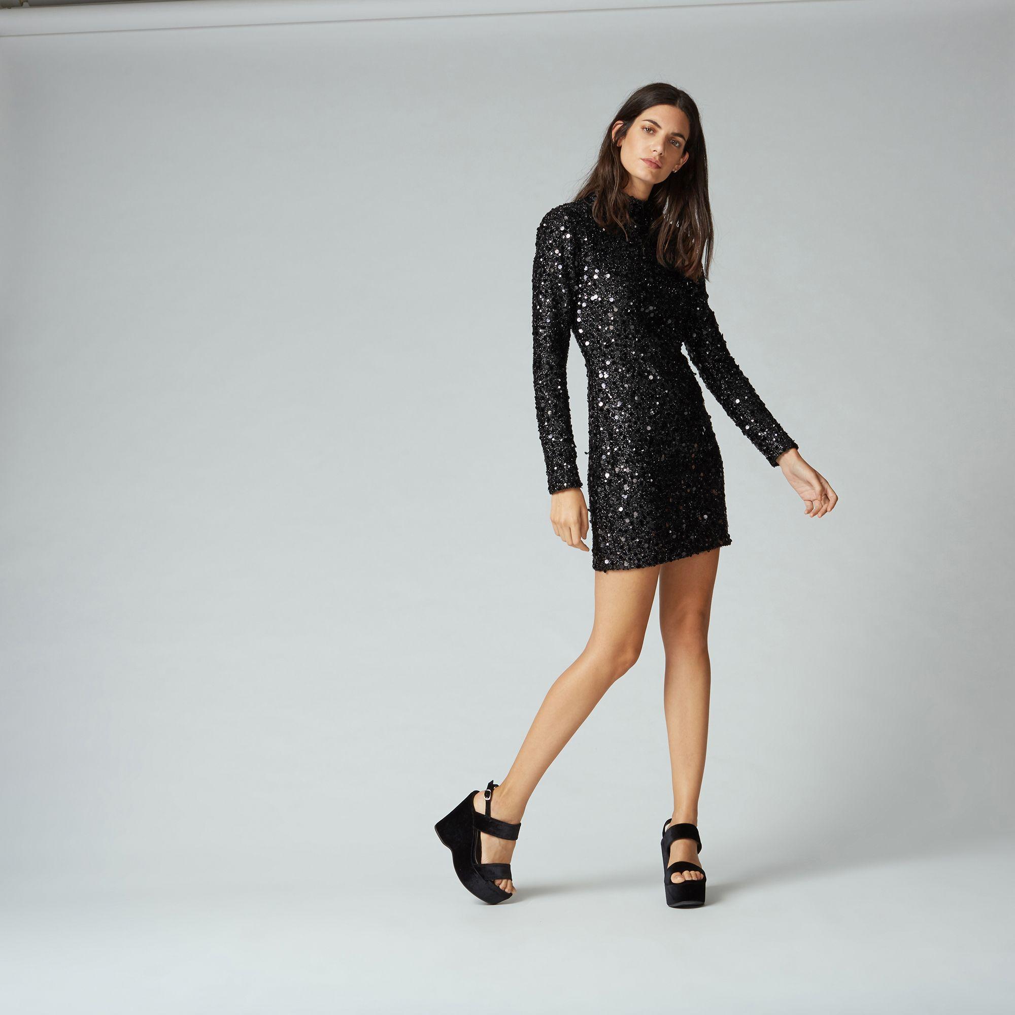 Warehouse black dress sequins amazing