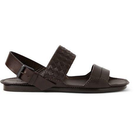 Bottega Veneta Intrecciato Multi-Strap Leather Sandals