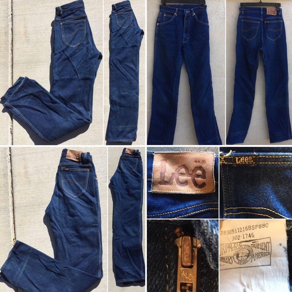 Vintage Lee Jeans High Waist Union Made In Usa Talon 42 Zipper Sz 9 24 Waist Ebay High Waist Jeans Lee Jeans Vintage Denim