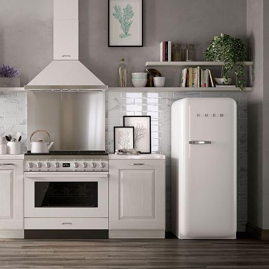 Smeg Full Size Refrigerator In 2020 Kitchen Remodel Small Modern Kitchen Design Kitchen Design