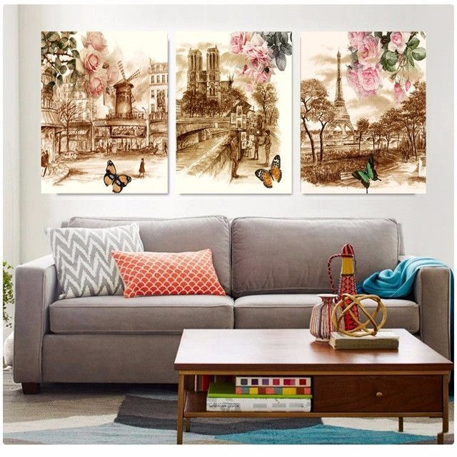 No frame canvas painting wall pictures for living room Framed
