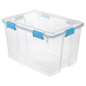 Sterlite Gasket Box 76l 4 Pack Clear Sterilite Plastic Container Storage Sterilite Storage Bins