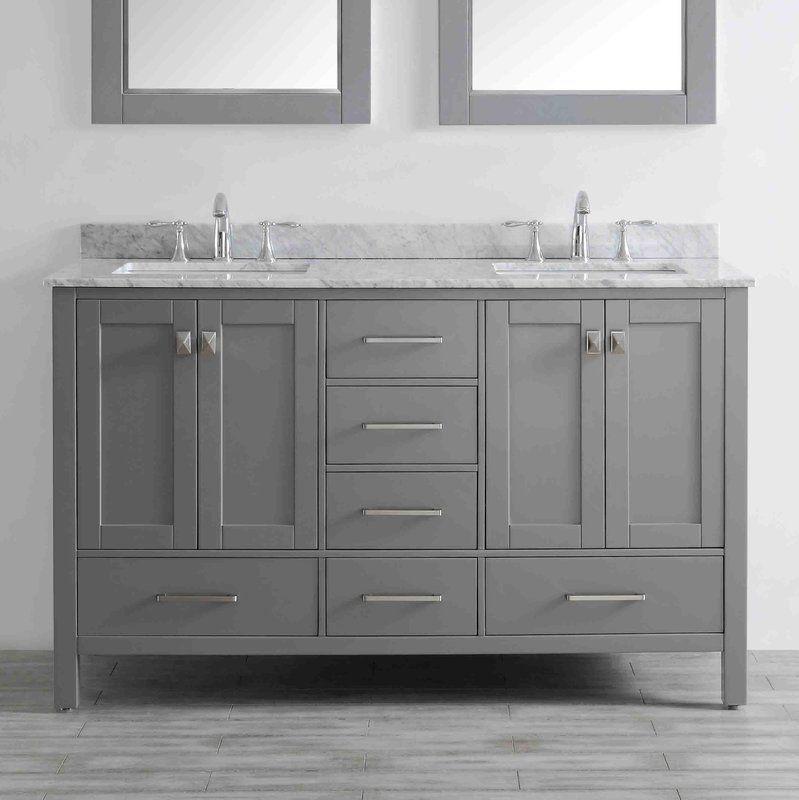 pichardo 60 double bathroom vanity set double vanity on replacement countertops for bathroom vanity id=79091