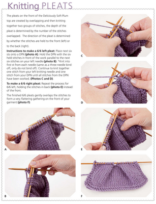 Instructions How To Knit Pleats Knitting Tech Pinterest
