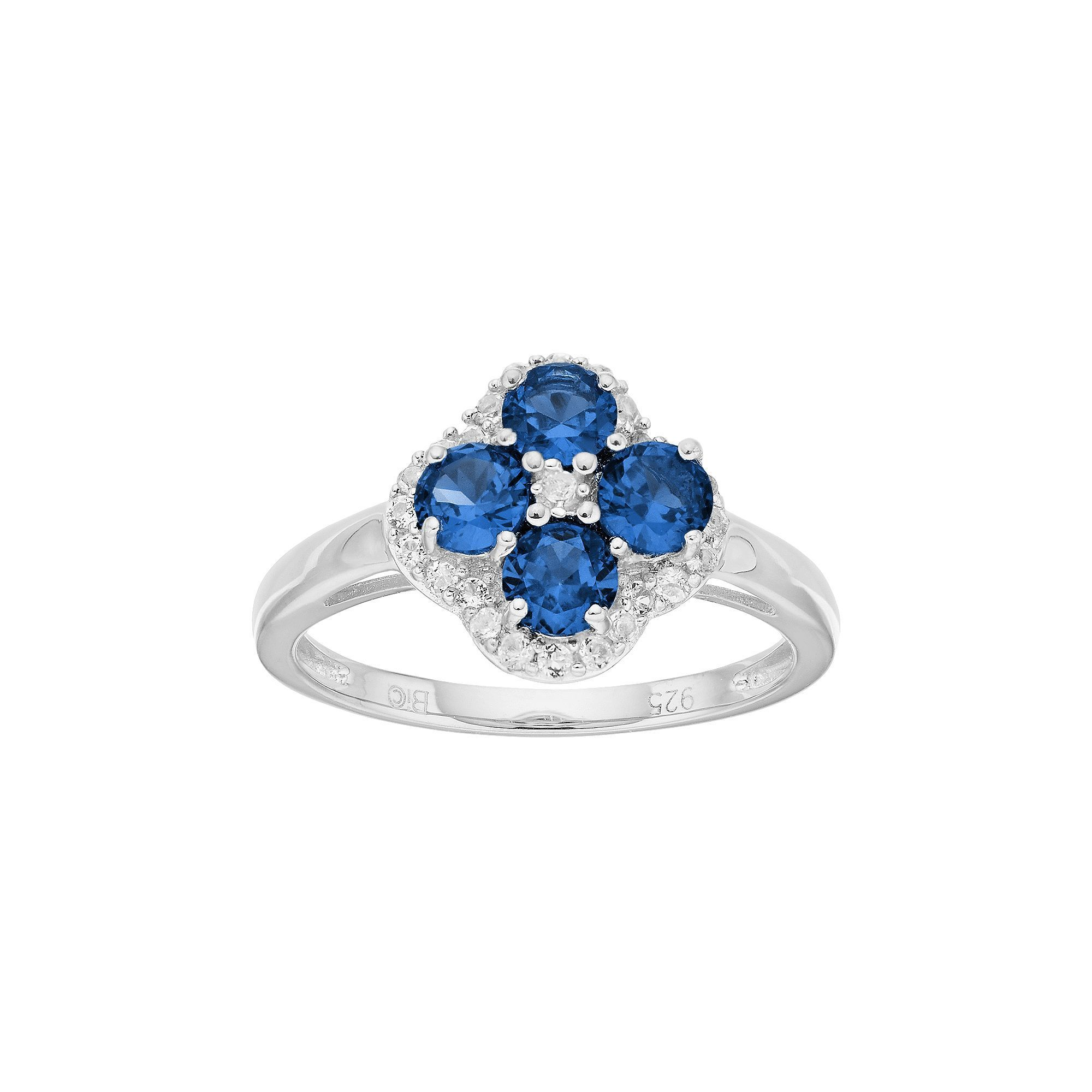 sapphire rings lab blue white engagement caymancode twig cut grown created ct emerald ring