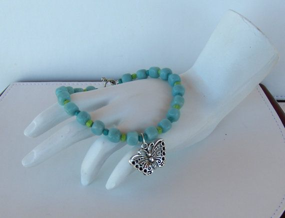 Handcrafted Amazonite Bead Bracelet w/ by BlackstreaksBeads, $36.00