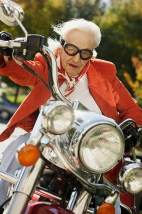 funny old motorcycle pictures  old woman on motorcycle - Google-søk | Info | Pinterest | Google ...