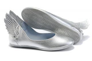 New Originals Jeremy Scott Angel Wings Women Shoes Silver On
