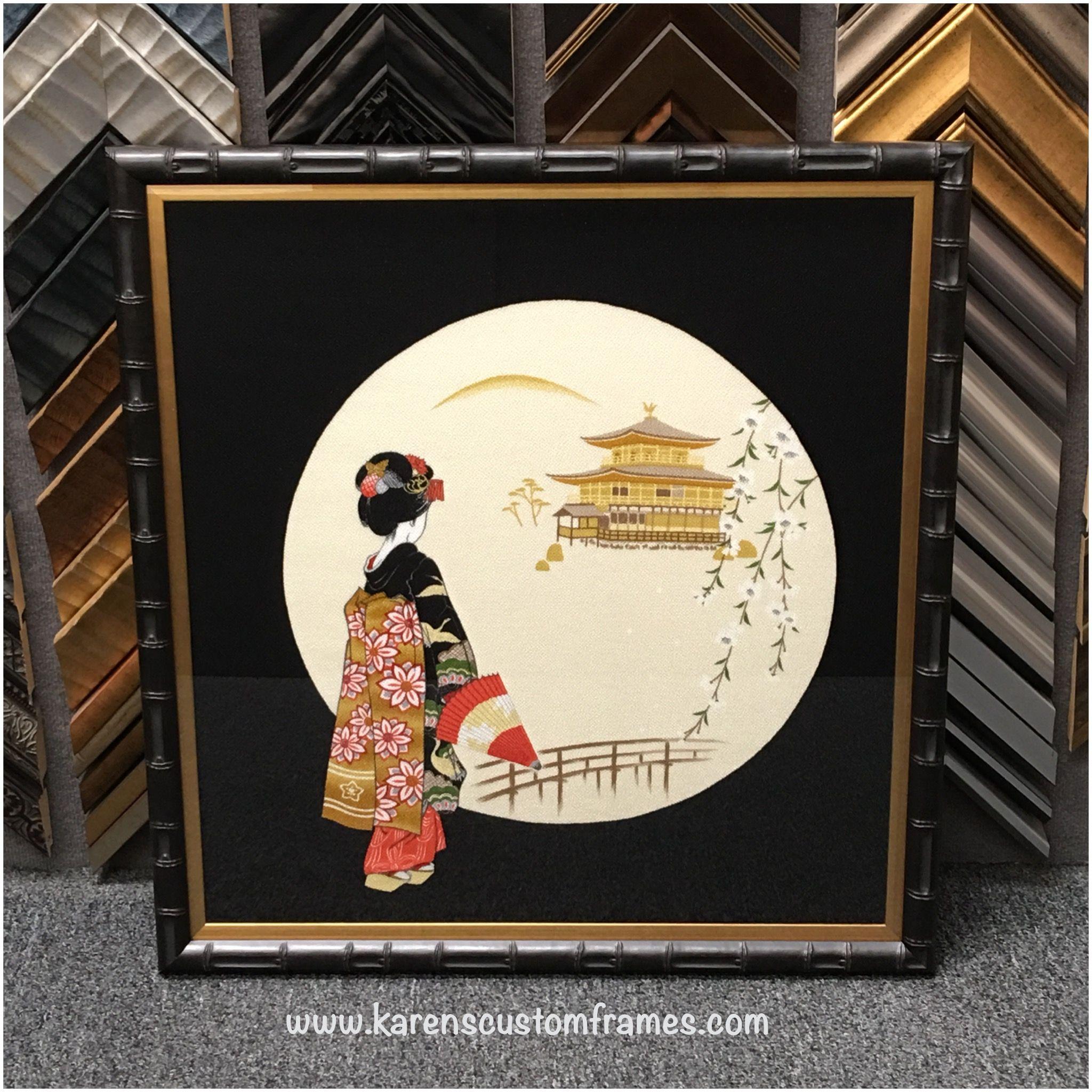 Asian Artwork - Custom Design and Picture Framing by Karen\'s Detail ...