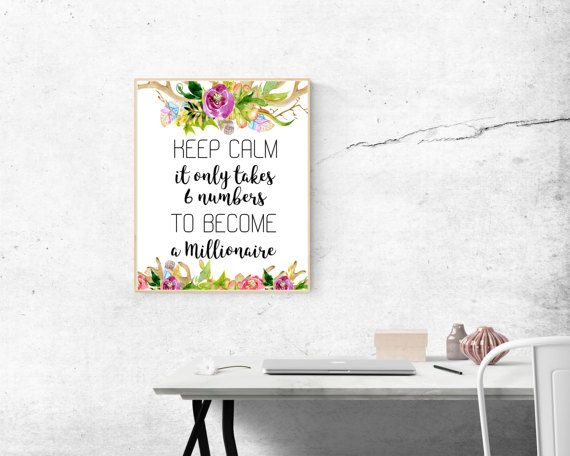 Wall Art For Office, Office Wall Art, Keep Calm Print, Funny Office Quote.