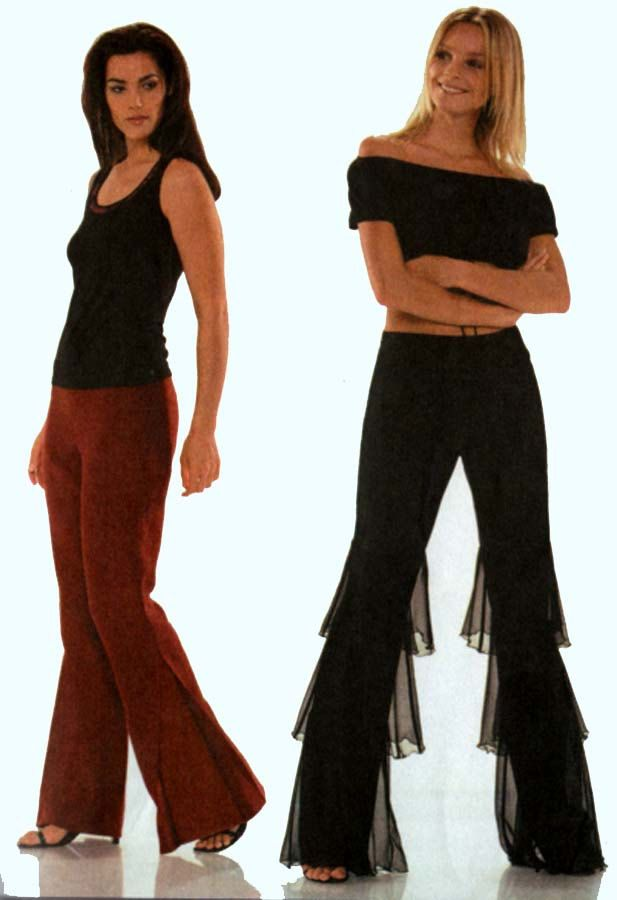 Misses Belly Dance Pants with Flouncing Ruffles Pantaloon Burda 8485 ...