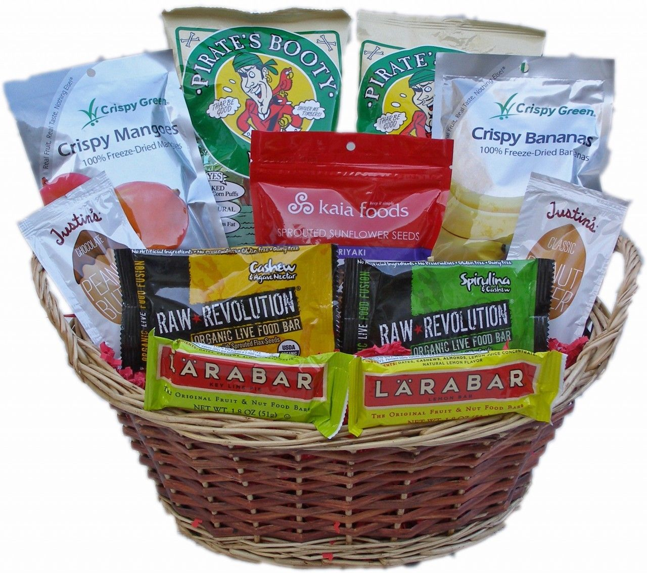 Gluten free vegan gift basket with images