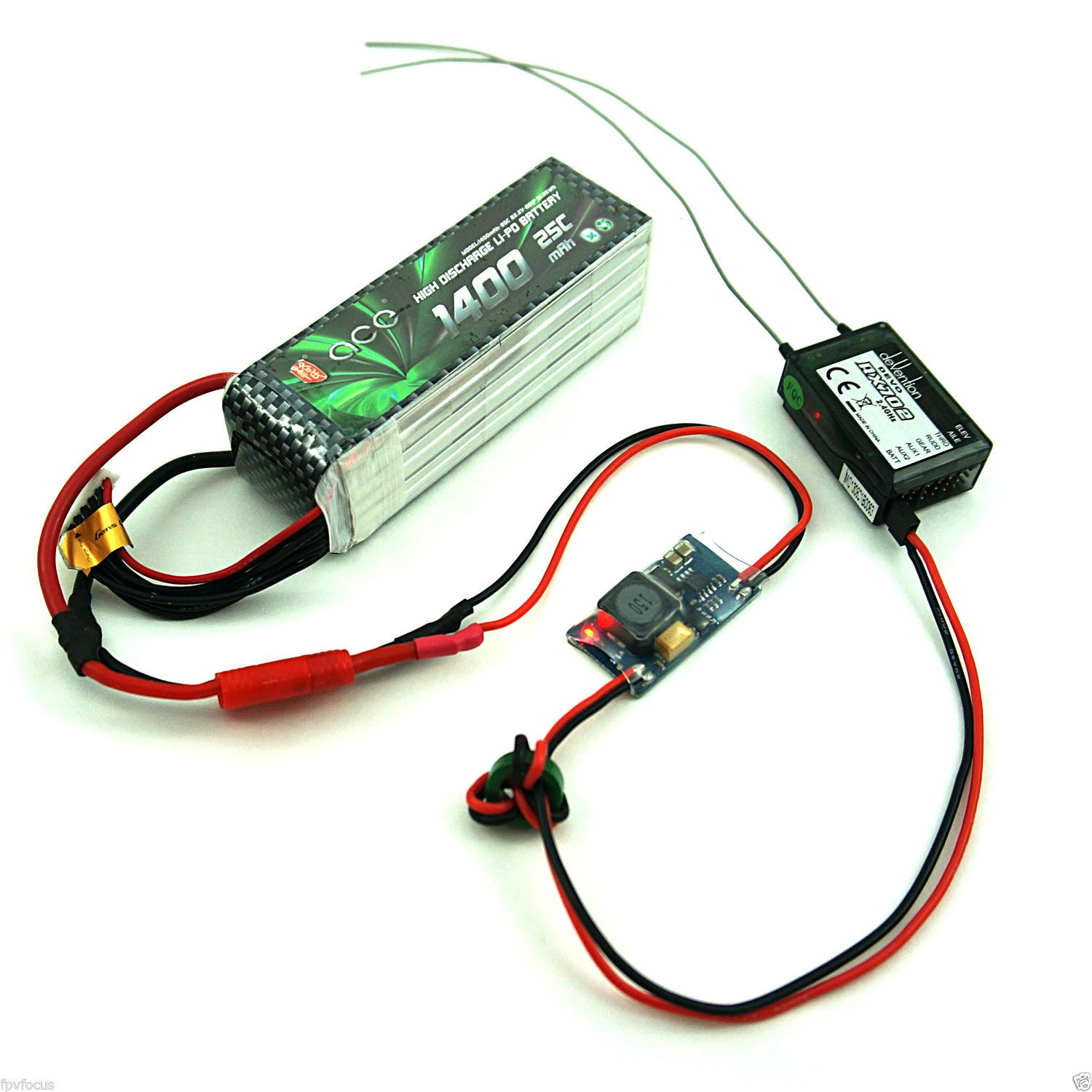 fpv focus bec sbec ubec 5v/5 volt 2s-8s switching regulator - 4s/6s lipo  #fpv #bec #equipment #systems #ubec #sbec #lipo