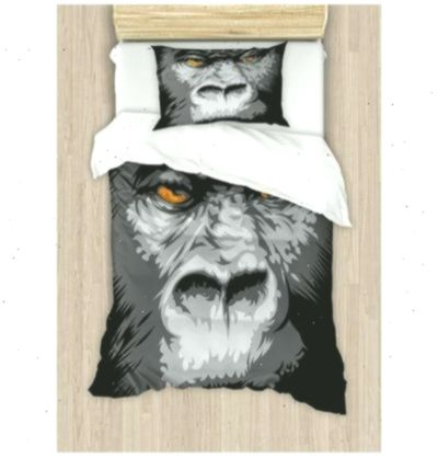 Ambesonne Close Up Gorilla Portrait with Orange Eyes Zoo Jungle Animal Wild Money Graphic Duvet Cover Set  Wayfair
