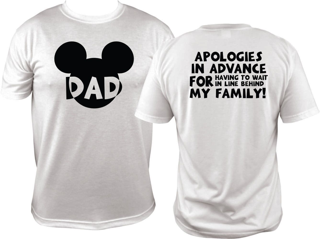 79d83201e2273 Funny Dads Disney T Shirt - Mickey Head Short Sleeve Tee in 2019 ...