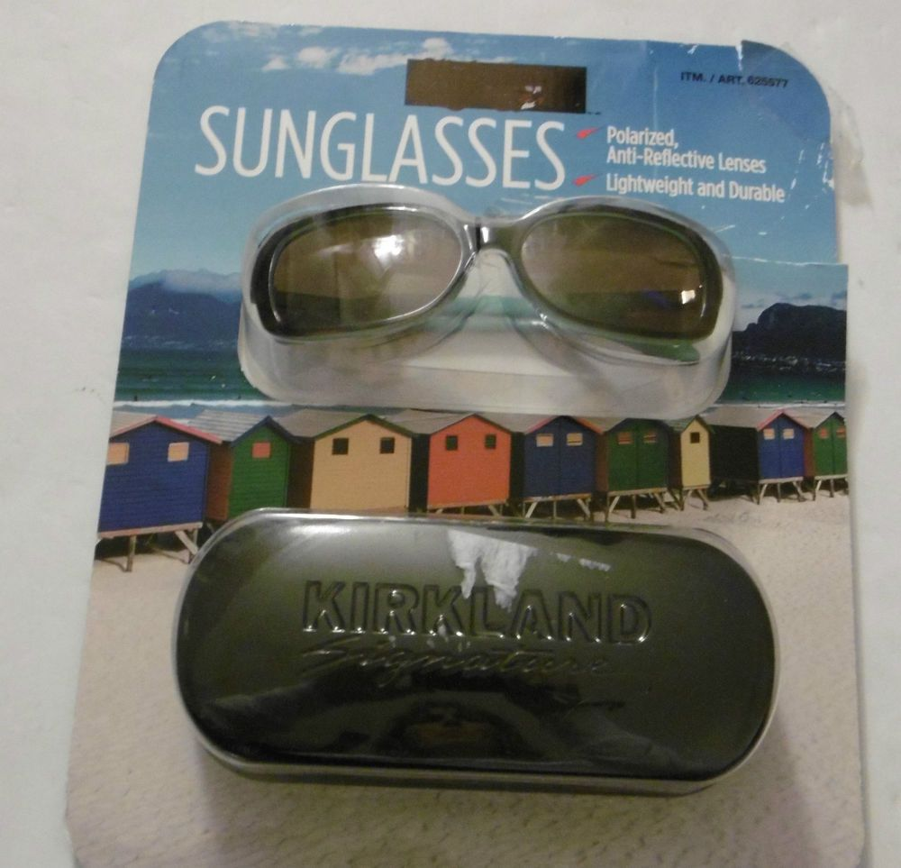 8a13a56735c KIRKLAND Signature POLARIZED SUNGLASSES WAYFARER AQUA COLOR MADE IN ITALY  6B40  KIRKLAND  WAYFARERSTYLE