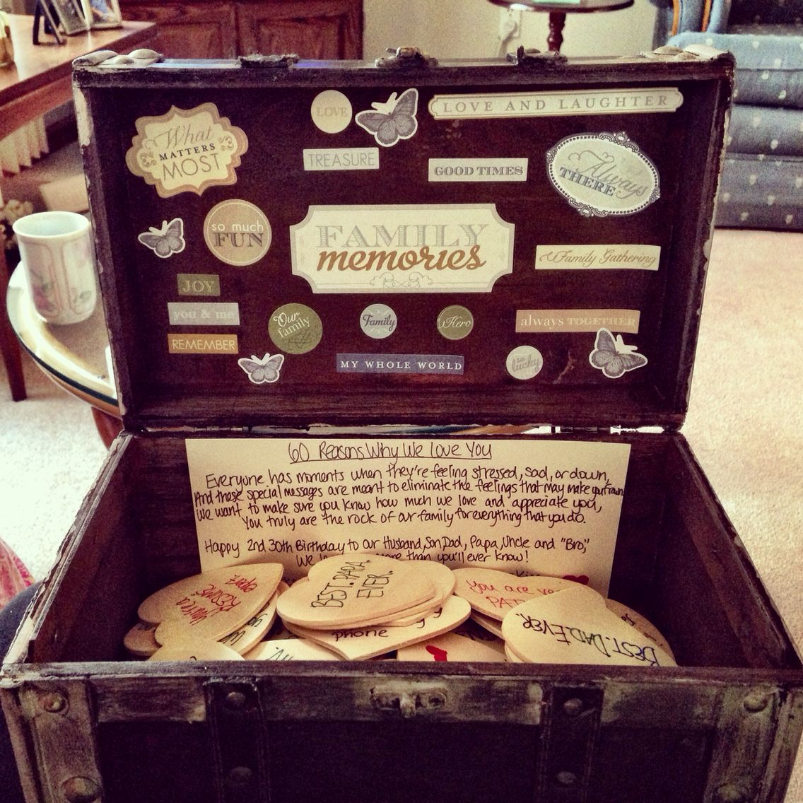 Sentimental gift idea I had for my Dad's 60th birthday