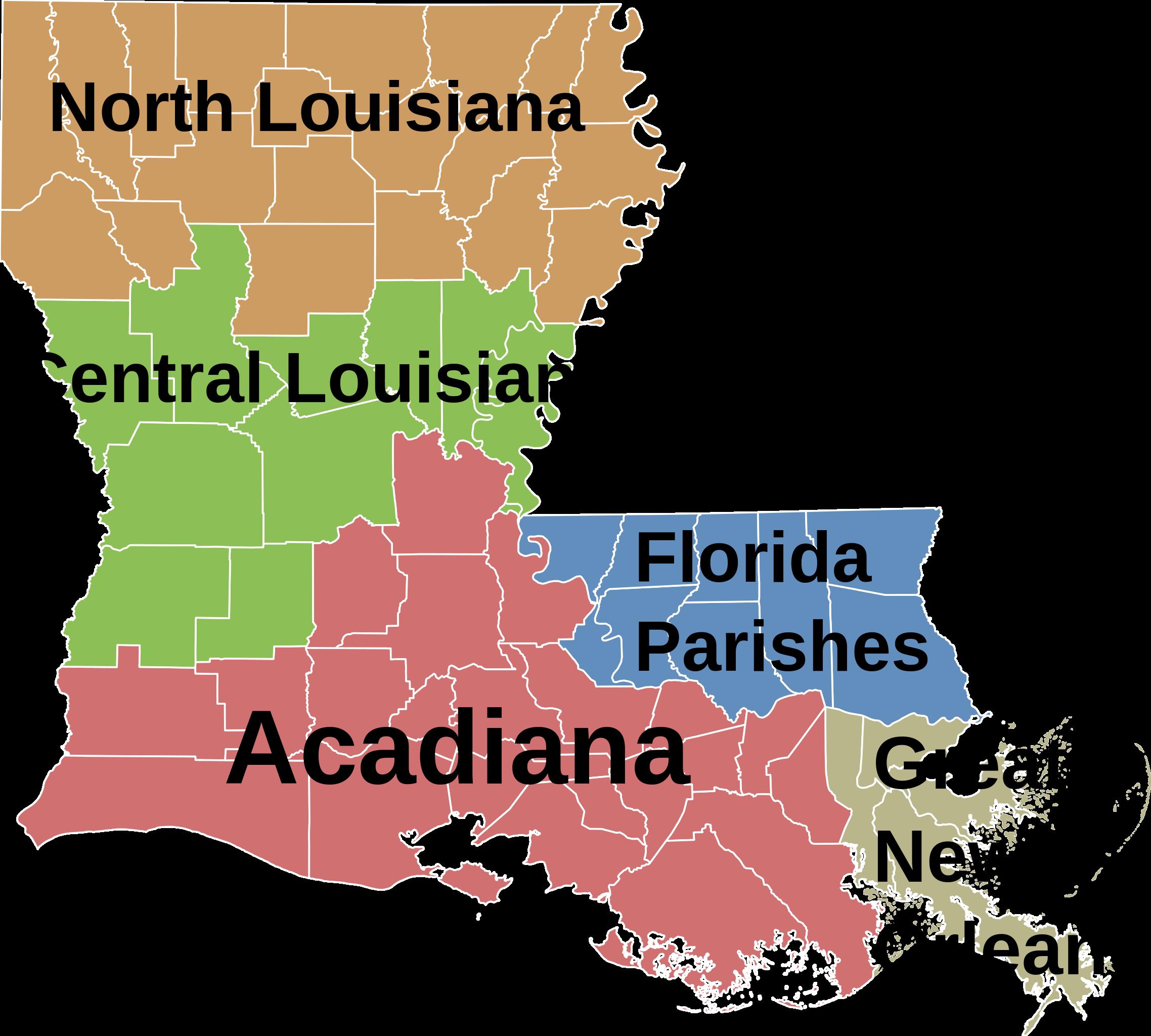 Louisiana regions in 2019 | Maps , geography , history , politics ...