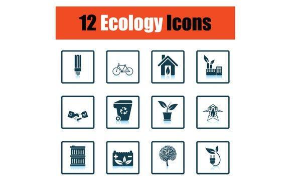 Ecology icon set   Icon set, Paint icon, Business icon