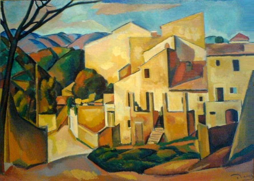 Andr derain la maison de la poste cagnes 1910 for Andre maurois la maison