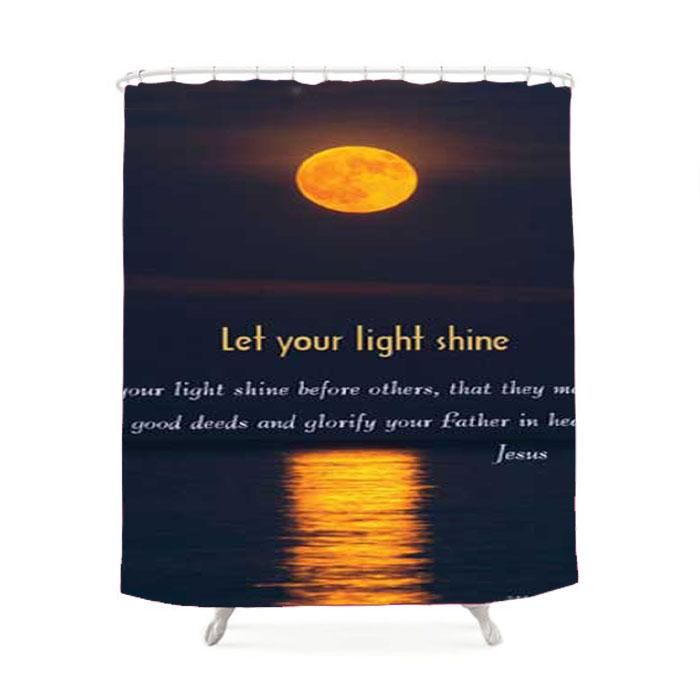Bible Verse Let Your Light Shine Shower Curtain
