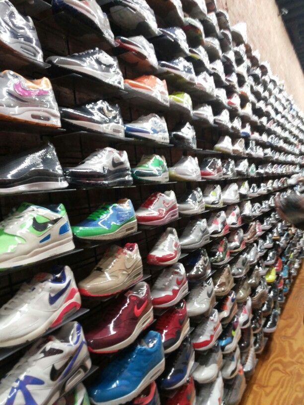 Shoes wall Shoes wall store ideas