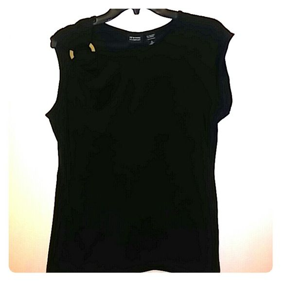 New York & Company ~ Off shoulder top Off shoulder & cap sleeve/ stretch/spandex polyester mix/ Never worn New York & Company Tops