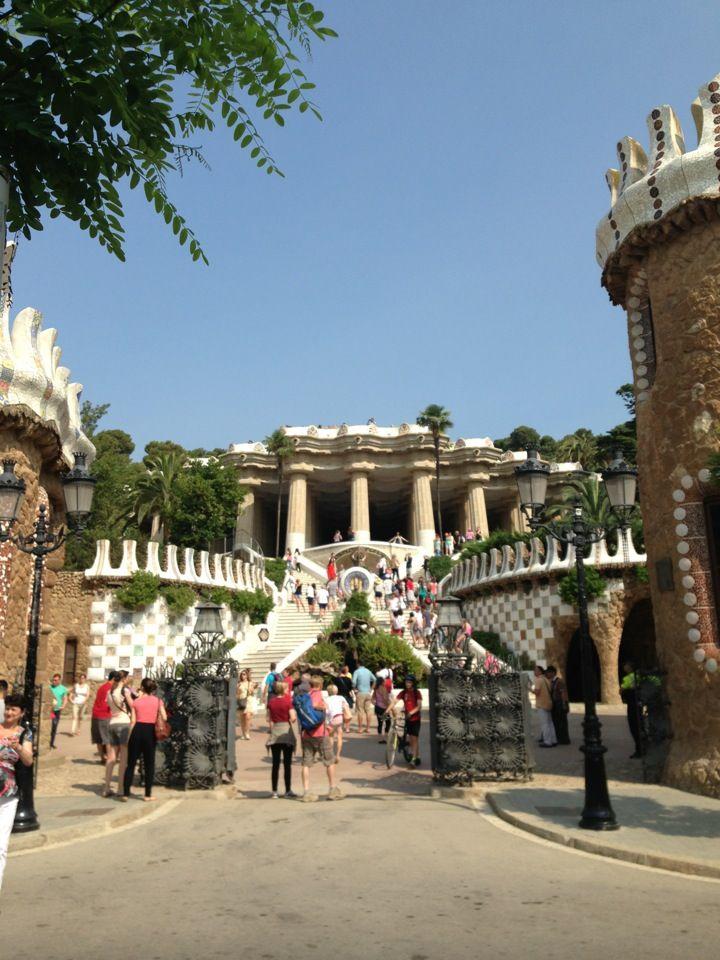 Parc Güell in Barcelona, Cataluña
