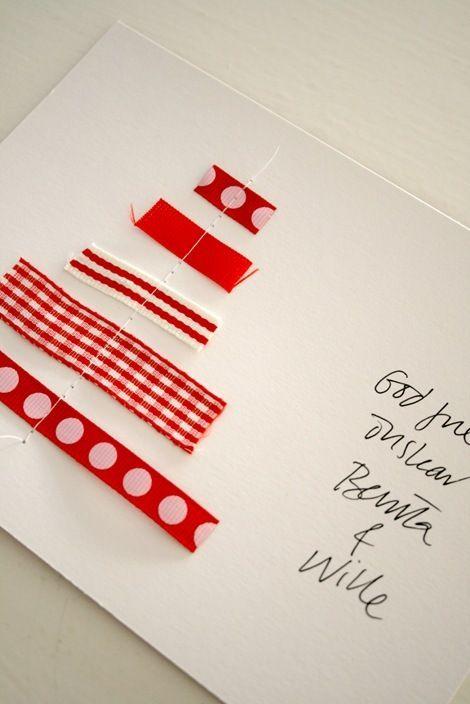 christmas cards Kaartjes Pinterest The ribbon, Christmas