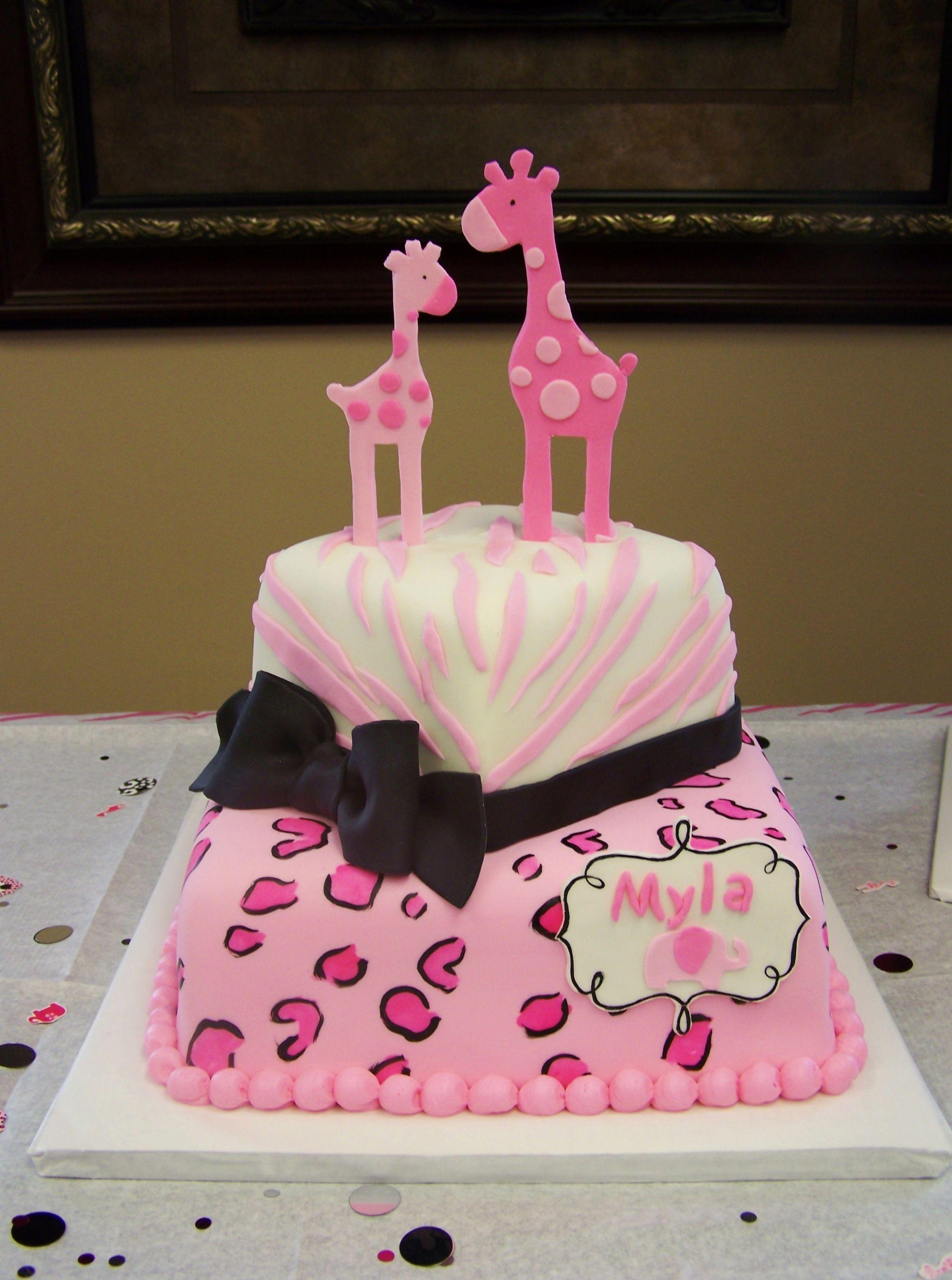 Amazing Pink Safari Themed Cake
