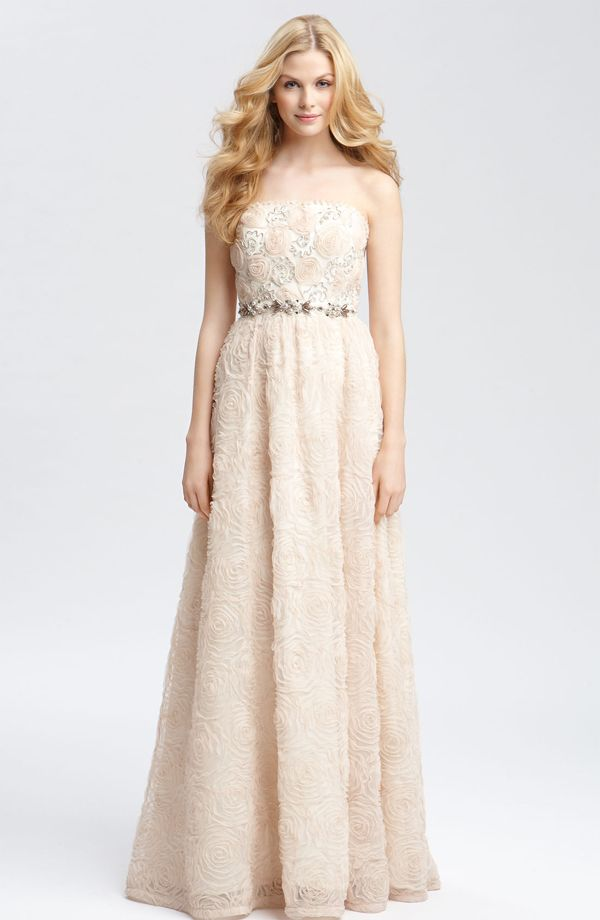 Adrianna Papell Strapless Soutache Gown seen on Nordstrom ...