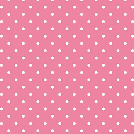 Riley Blake Hot Pink and White Swiss Dots C670R-70 HOTP Cotton