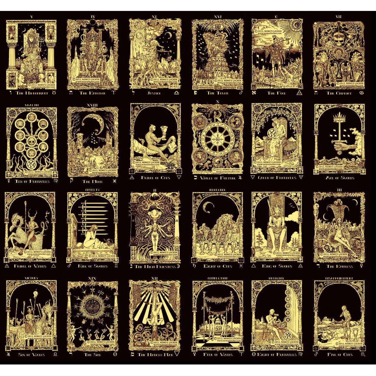 Image result for book of azathoth tarot tarot cards art